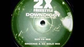 Det & Skibadee Present 2x Freestyle - Downdiggy (Shy FX Remix)