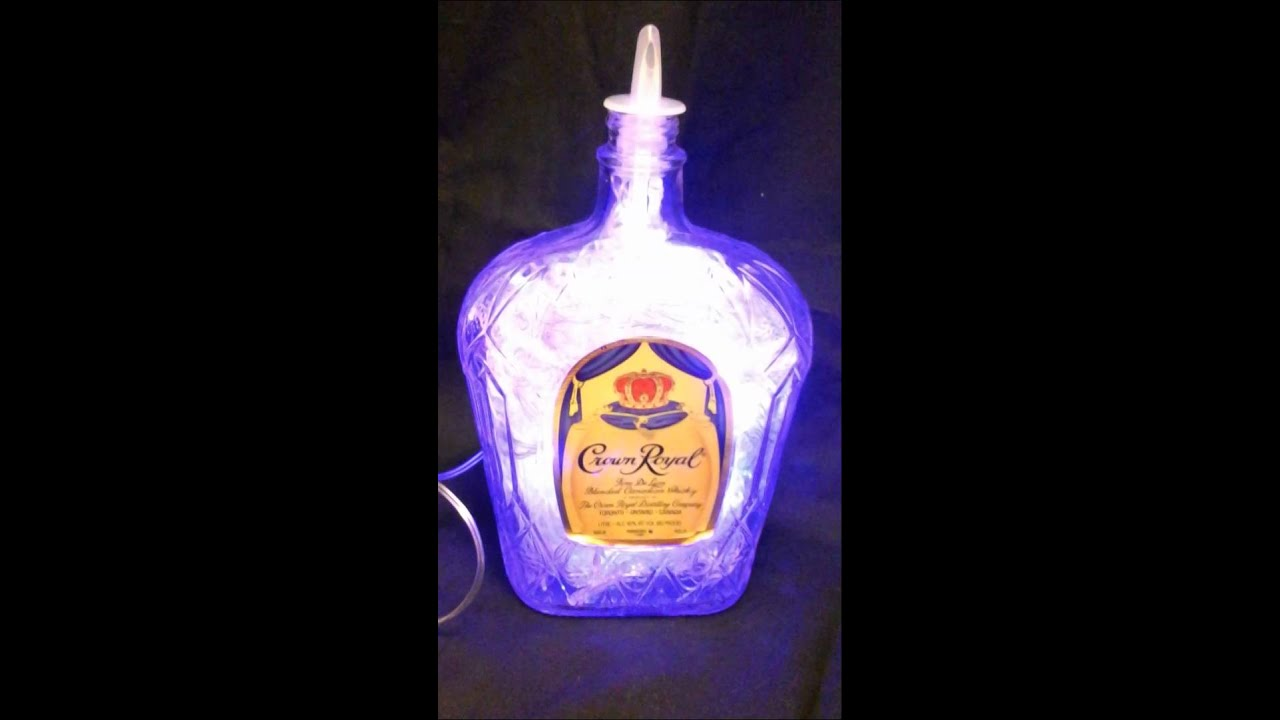 foto de THE ORIGINAL Liquor Lights Crown Royal Bottle w/ Purple LEDs YouTube