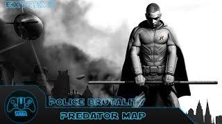 Batman Arkham City - PoĮice Brutality (Extreme) - As Robin - Predator Map 8 - 1.32.91
