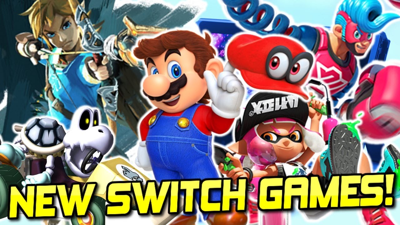 New Nintendo Switch Games Super Mario Odyssey Breath Of The Wild Splatoon 2 New Mario Kart