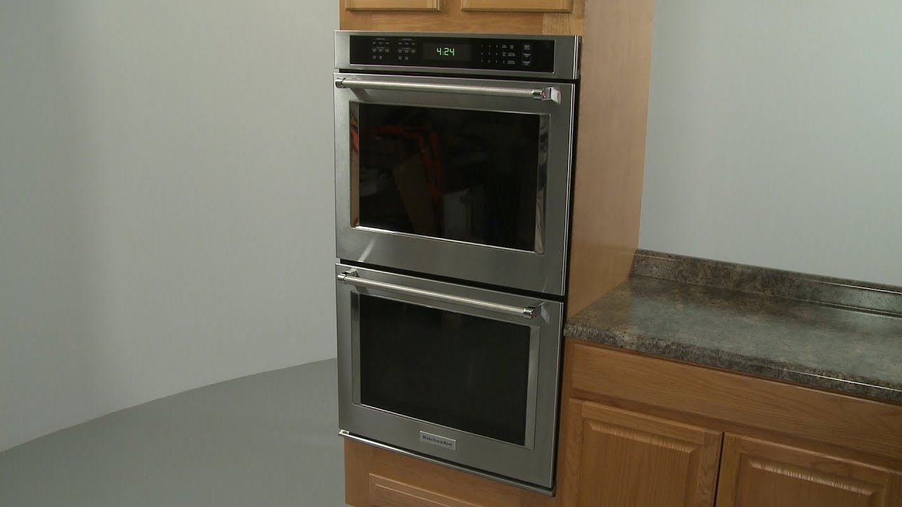 kitchenaid electric double wall oven installation (model #kode500ess02)
