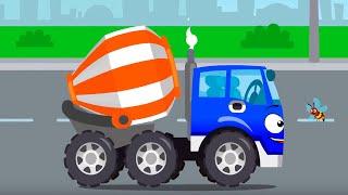 Бетономешалка помогает друзьям | Истории Машинок - Мультфильмы для детей