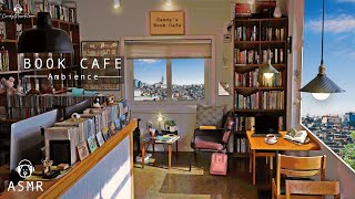 Book Cafe Ambience & Jazz Music - Coffee Shop Sounds, Keyboard Typing Sounds, Book Cafe ASMR