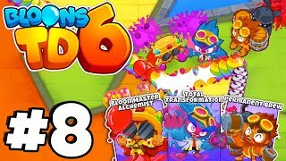 *TIER 5* ALL MAX LEVEL ALCHEMIST! - Bloons Tower Defense 6 Part 8 (BTD 6 IOS/Android)