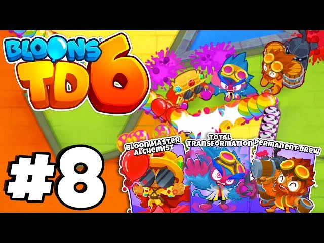 TIER 5* ALL MAX LEVEL ALCHEMIST! - Bloons Tower Defense 6