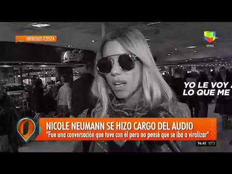 Nicole llegó al país y confirmó que el audio filtrado es de ella