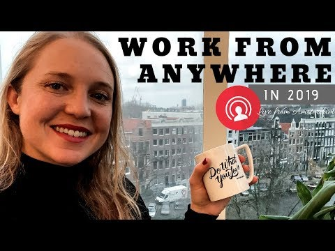 Work from Anywhere in 2019 - WeWork Amsterdam [Digital Nomad Livestream]