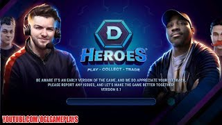 DHeroes: CCG (Trading Cards) Gameplay Trailer (Beta Test)