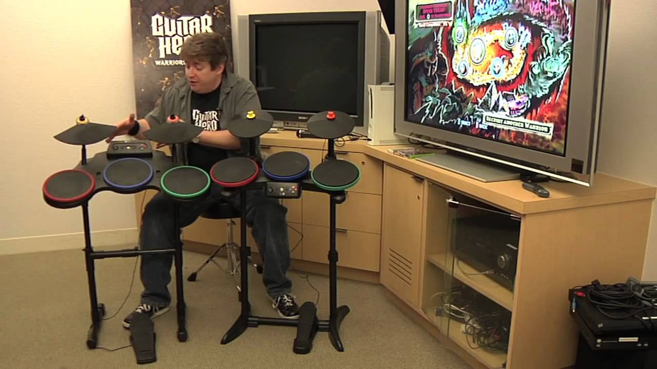 guitar hero warriors of rock hands on with new drums youtube. Black Bedroom Furniture Sets. Home Design Ideas