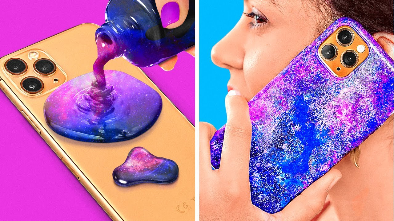 COOL DIY PHONE CRAFTS    Fun Crafting Hacks For Your Phone