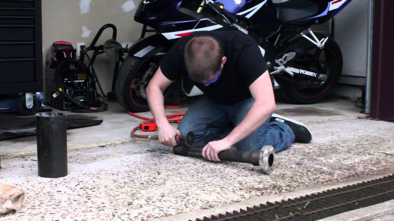 How To Cut Modify Your Motorcycle Exhaust Youtube Yamaha 4 Wheeler Wiring Diagram In Addition Moto