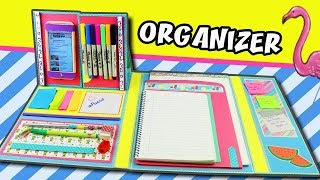 DIY FOLDER ORGANIZER - BACK TO SCHOOL | aPasos Crafts DIY