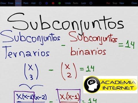 El conjunto A tiene 14 subconjuntos ternarios mas que binarios. Cuántos conjuntos unitarios tiene A