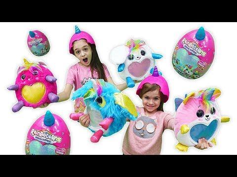 Игры для девочек с RainBoCorns Surprise (Реинбокорнс). Распаковка. Огромное яйцо СЮРПРИЗ