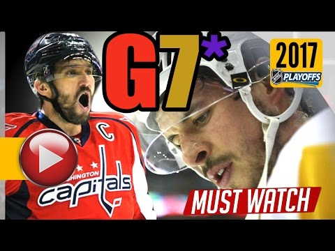 Pittsburgh Penguins vs Washington Capitals. 2017 NHL Playoffs. Round 2. Game 7. 05.10.2017 (HD)