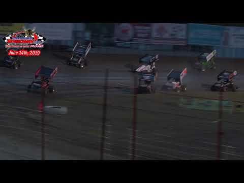 River Cities Speedway NOSA Sprint Car A-Main (6/14/19)