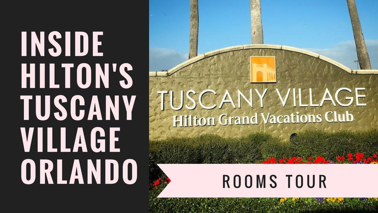 AM 38 - HOTEL ROOM TOUR of Hilton's Tuscany Village in Orlando, Florida