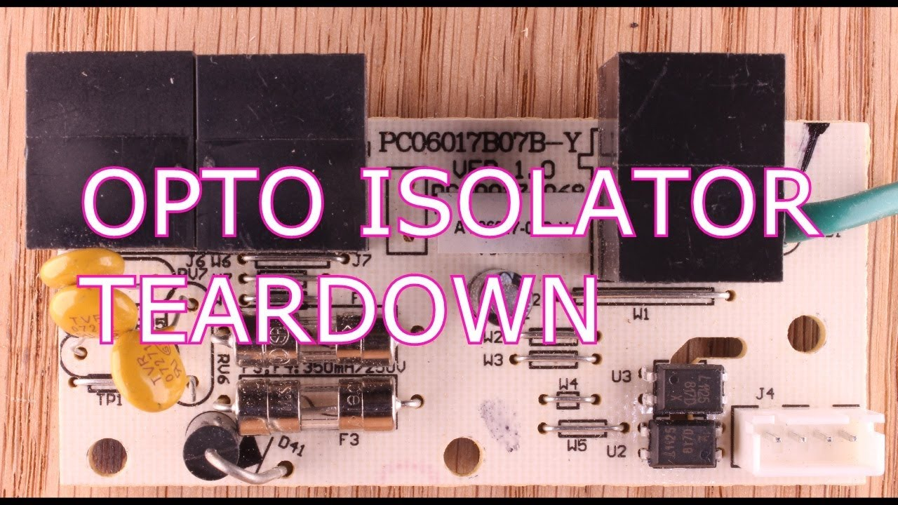 Teardown Of An Optoisolator Youtube Linear Opto Isolator Circuits