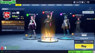 Jouer Fortnite Battle Royale [PC] - Starter Pack aujourd'hui? 6900 meurtres et plus 199 Victoires niveau 95