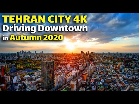 Tehran City 4K, Driving Downtown In Autumn 2020, IRAN (4K Ultra HD 60fps)