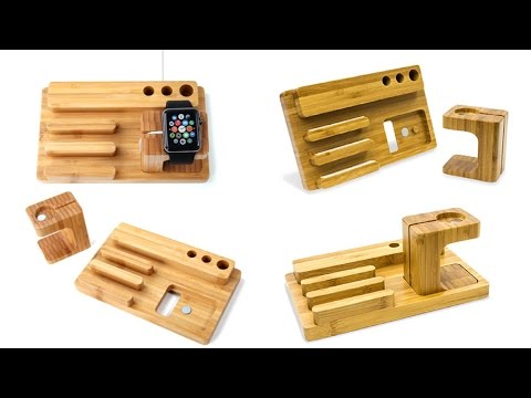 Olixar Charging Apple Watch Wooden Desk Stand With iPhone Dock!