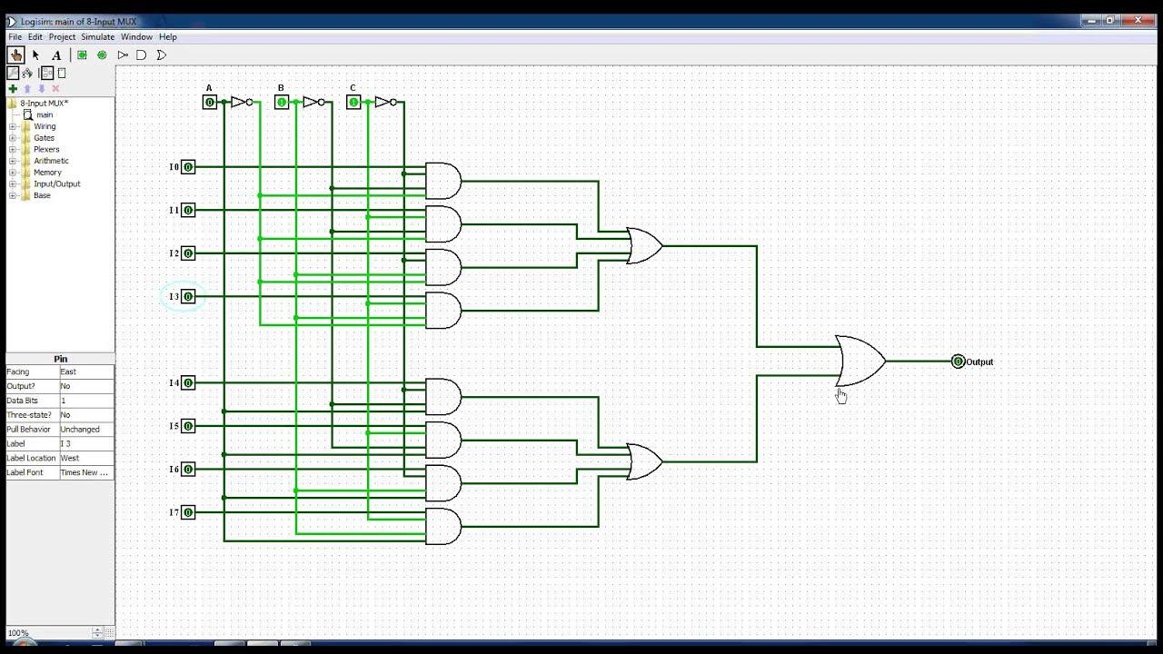 hight resolution of 8 input multiplexer