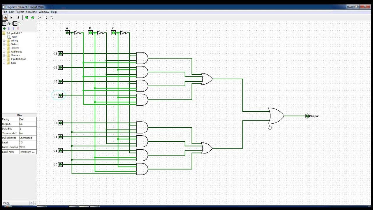 8 input multiplexer [ 1280 x 720 Pixel ]