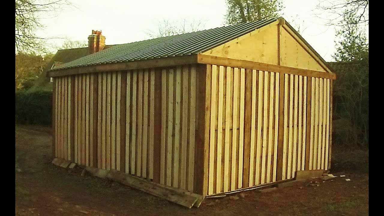 PALLET SHED HOW I BUILT IT Free Or Cheap Shed From Recycled Pallets DIY Garage Storage Part 2