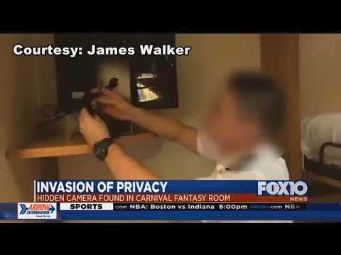 Florida family finds hidden camera inside Mobile based Carnival cruise room