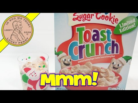 Sugar Cookie Toast Crunch Limited Edition Breakfast Cereal - Tasty!