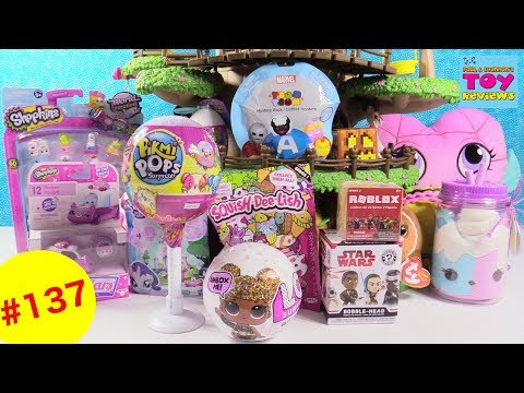 Blind Bag Treehouse #137 Unboxing Hatchimals MLP LOL Surprise Glitter Pikmi Pops Toy Review | PSToyR