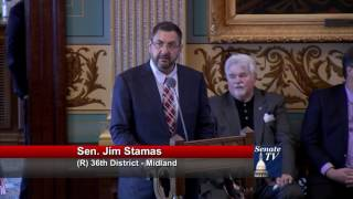 Sen. Stamas speaks in support of Peter A. Pettalia Memorial Act amendment