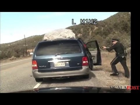 New Mexico State Police Traffic Stop Shooting At Van With Kids Dash Cam [FULL LENGTH]