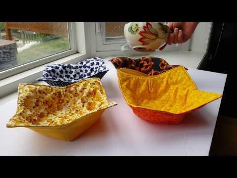 Microwave bowl holders