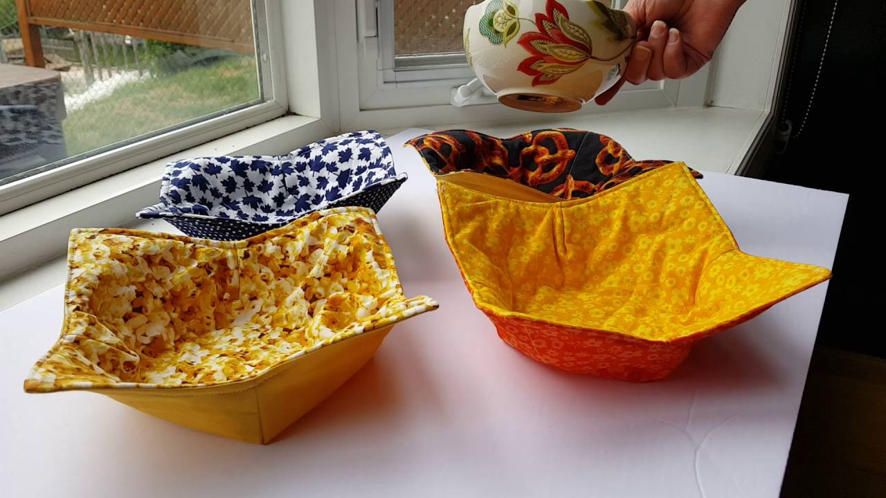 sewing pattern microwave bowl holder