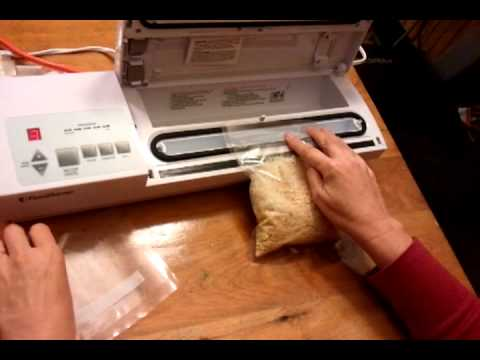 using inexpensive smooth nonribbed food storage bags with a vacuum sealer youtube
