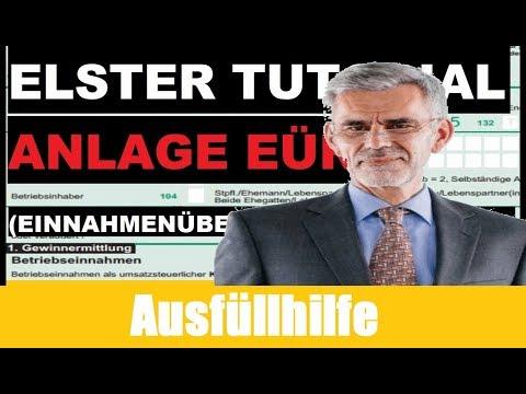 Einnahmenüberschussrechnung Elster | Anlage EÜR Elster | Steuererklärung Kleingewerbe