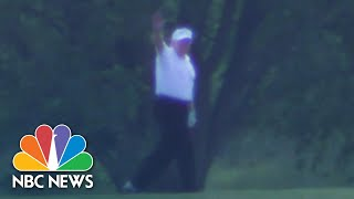 Watch: Trump Visits Golf Course As States Loosen COVID-19 Restrictions   NBC News