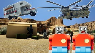 LEGO CAMPING TRIP GONE WRONG! -  Brick Rigs Multiplayer Roleplay & Gameplay Challenge