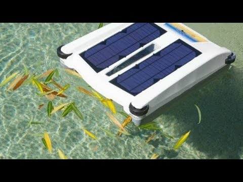 Solar Powered Pool Robot will clean the top of your pool automatically
