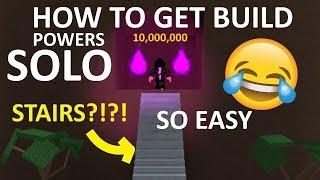 HOW TO GET BUILD POWERS EASY SOLO?! (Read description) Roblox lumber tycoon