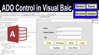 How To Connect Vb To Database Using Ado Control | Visual Basic Tutorial