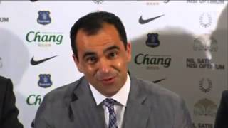 Roberto Martinez Press Conference (Everton)