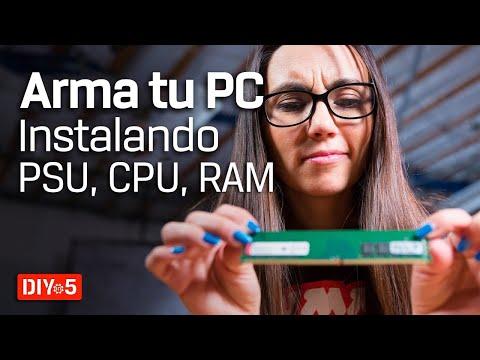 Arma tu PC - Aprende a instalar la PSU, CPU y RAM