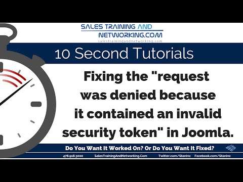Invalid Token Request Fix in Joomla 3.6.2