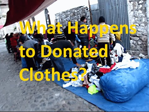 What Happens to Used Clothing Donated Sent Abroad?
