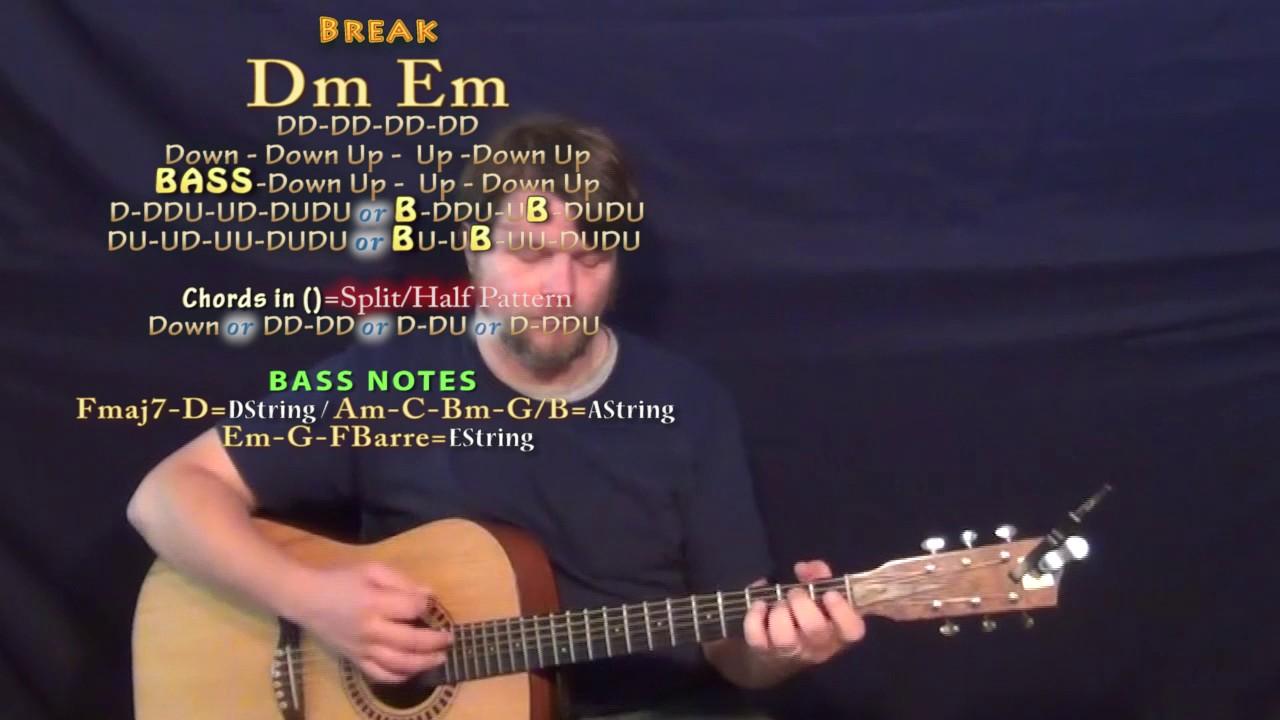 Fake Love Drake Simplified Guitar Lesson Chord Chart Youtube
