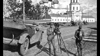 Архангельск времен интервенции, лето, 1919 год,  Кинохроника