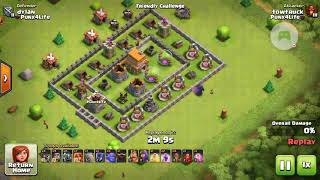 All alone Level 5 P.E.K.K.A VS Th7: Clash of Clans