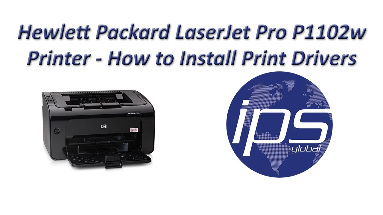 Hp P1102w How To Install Print Drivers Youtube